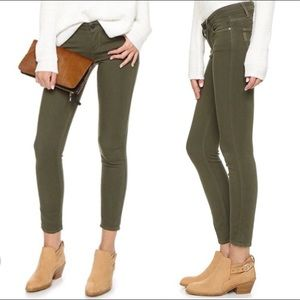 Paige Verdugo Ankle Skinny Jeans Sz 27 Olive Green